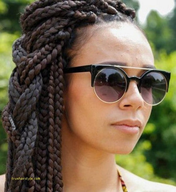 lovely simple newest jumbo box braids