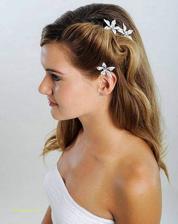 new simple wedding hairstyle for medium length hair
