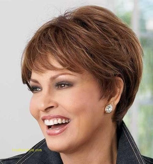 unique new short haircuts for women over 50 with thick hair