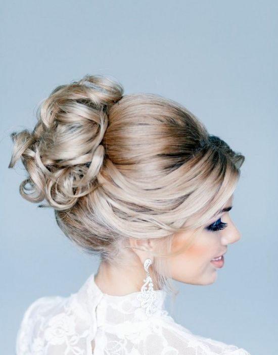 awesome glamorous updo elegant hairstyle