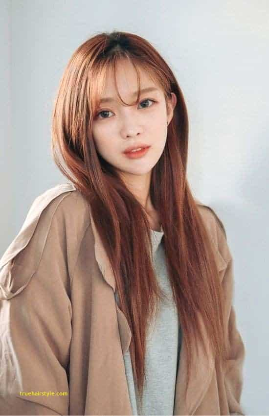 great elegant cute korean girl with beauty longhair in this year