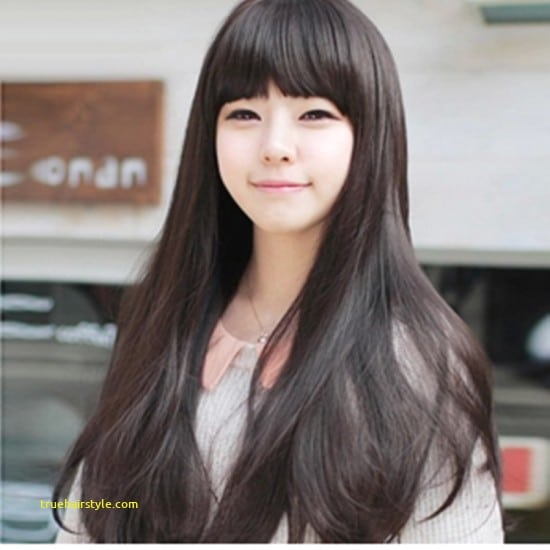 inspirational elegant cute korean girl with beauty longhair today
