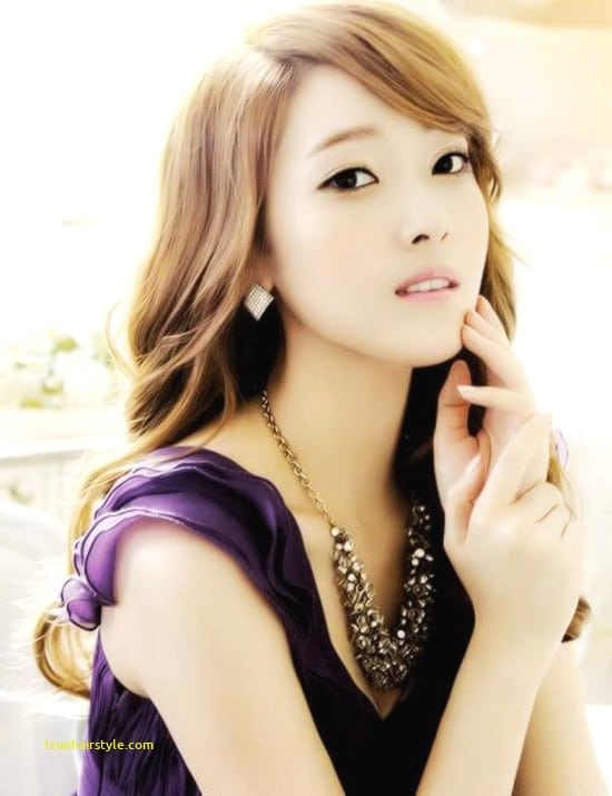 lovely elegant cute korean girl with beauty longhair of all time
