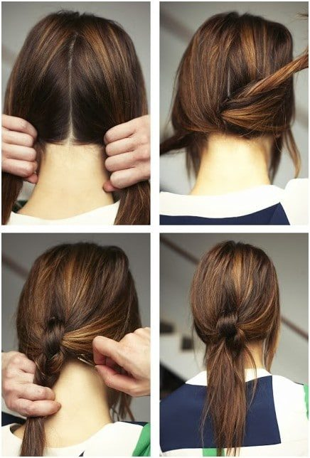 Lovely Long Hair Ponytail Style