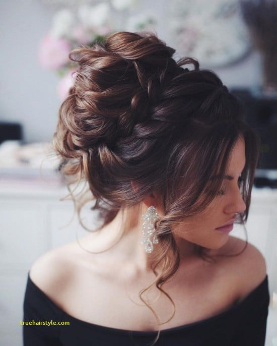 luxury french braided wedding updo for bridesmaids