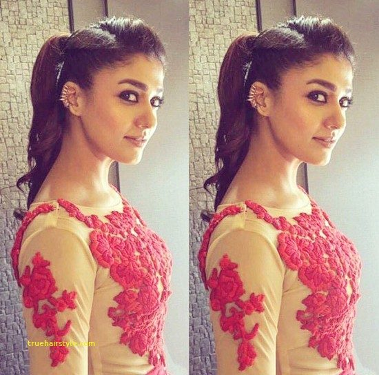 elegant nayanthara hairstyle today