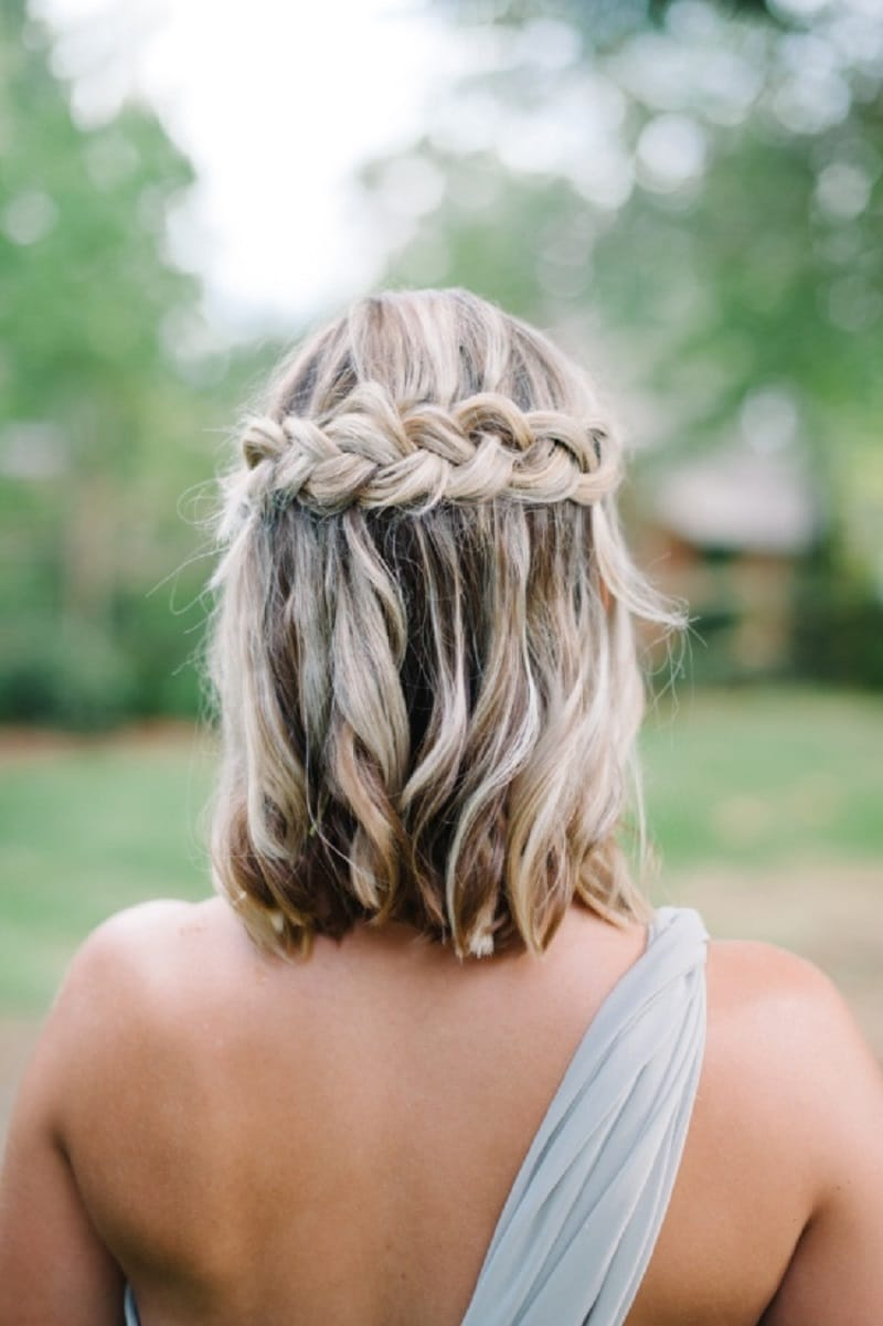 Hairstyle for Short Hair Bride